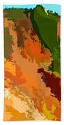 Abstract Arizona Mountains In The Afternoon  Bath Towel