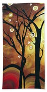 Abstract Art Original Landscape Painting Catch The Rising Sun By Madart Bath Towel