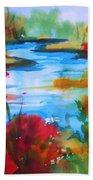 Abstract - Autumn Blaze On Catskill Creek Bath Towel