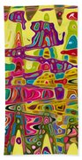 Abstract Background With Bright Colored Waves 5 Bath Towel
