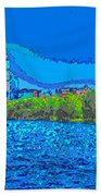 Abstract Boston Skyline Bath Towel