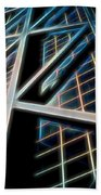 Abstract Buildings Bath Towel
