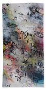 Abstract Butterfly Dragonfly Painting Bath Towel