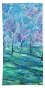 Abstract Cherry Trees Bath Towel