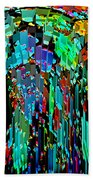 Abstract Color Falls Bath Towel