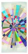 Abstract Color Wheel Bath Towel