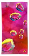 Abstract Colorful Water Drops Bath Towel