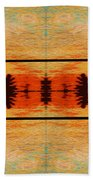 Abstract Cracker Tapestry Bath Towel