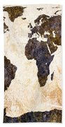 Abstract Earth Map Bath Towel