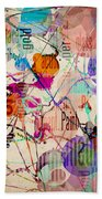Abstract Expressionism Bath Towel