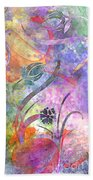 Abstract Floral Designe - Panel 2 Bath Towel