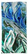 Abstract Floral Sky Reflection Bath Towel