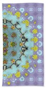Abstract Floral Bath Towel