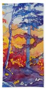 Abstract Forest No. 1 Bath Towel