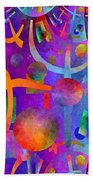 Abstract Fractillious - Episode One  Southwestern Bath Towel