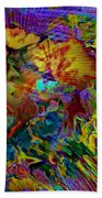 Abstract Fronds In Jewel Tones - Square Bath Towel