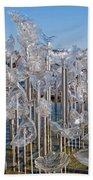 Abstract Glass Art Sculpture Bath Towel