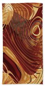Abstract Gold 3 Bath Towel