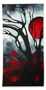 Abstract Gothic Art Original Landscape Painting Imagine By Madart Bath Towel