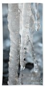 Abstract Icicles I Bath Towel