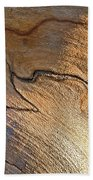 Abstract In Old Wood Bath Towel