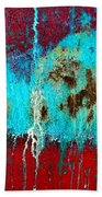 Abstract In Red 6 Bath Towel