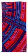 Abstract In Red And Blue Bath Towel