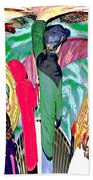 Abstract Inca Warriors Past Present And Future Bath Towel
