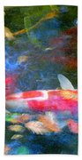 Abstract Koi 1 Bath Towel