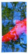 Abstract Koi 4 Bath Towel