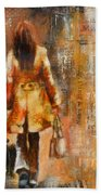 Abstract Lady  5 Bath Towel