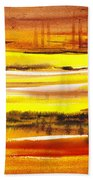 Abstract Landscape Found Reflections Bath Towel