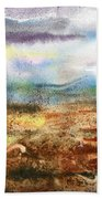 Abstract Landscape Morning Mist Bath Towel