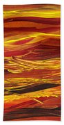 Abstract Landscape Yellow Hills Bath Towel