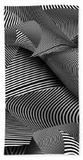 Abstract - Lines - Path To Destruction Bath Towel