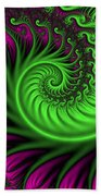 Abstract Neon Colors Fractal Bath Towel