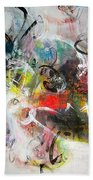 Abstract Painting Colourful Art Bath Towel