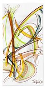 Abstract Pen Drawing Fifty-nine Bath Towel