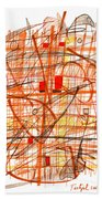 Abstract Pen Drawing Sixty-one Bath Towel