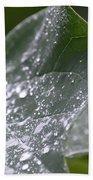 Abstract Rain Glitter Bath Towel
