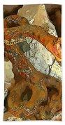 Abstract Rattlesnake Bath Towel
