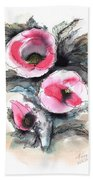 Abstract Red Poppies Bath Towel