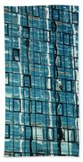 Abstract Reflections In Windows Bath Towel