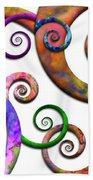 Abstract - Spirals - Planet X Hand Towel