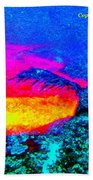 Abstract Sunset As A Painting Bath Towel