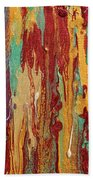 Abstract Sunset Over Tuscany  Bath Towel
