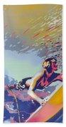 Abstract Surf Bath Towel