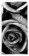 Dark Star Roses For David Bowie Bath Towel