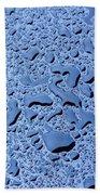 Abstract Water Drops Hand Towel