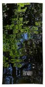 Abstract Water Reflection Bath Towel